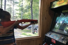 Girl-Playing-Hunting-Game-